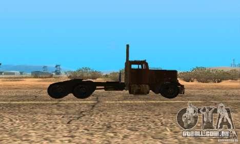 Duel Peterbilt para GTA San Andreas traseira esquerda vista