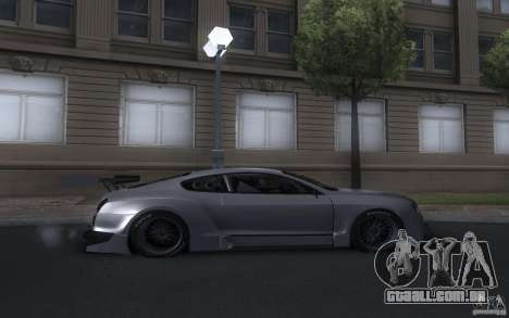 Bentley Continental Super Sport Tuning para GTA San Andreas vista direita