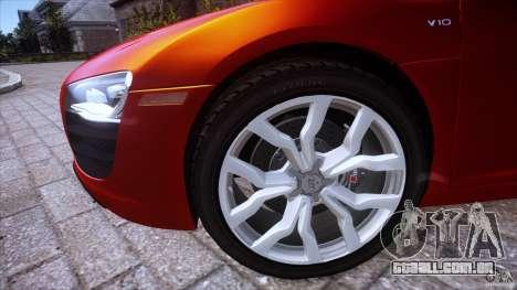 Audi R8 V10 para GTA 4 traseira esquerda vista