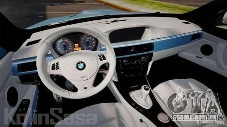 BMW E92 M3 Threep Edition para GTA 4 vista de volta