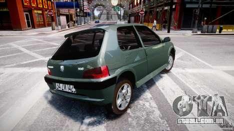 Peugeot 106 Quicksilver para GTA 4 vista direita