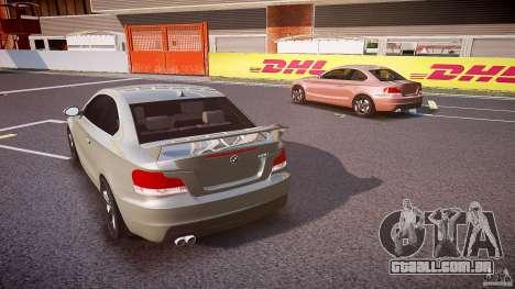 BMW 135i Coupe v1.0 2009 para GTA 4 vista lateral