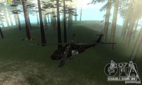 UH-60M Black Hawk para GTA San Andreas vista direita