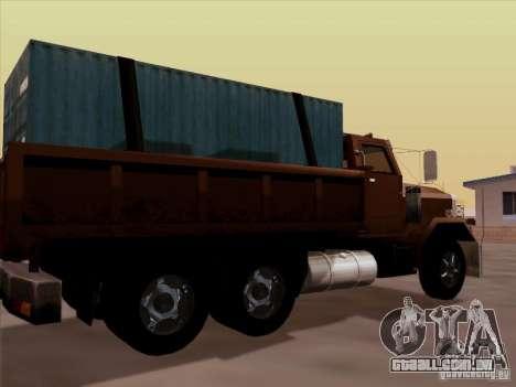 New Flatbed para GTA San Andreas vista direita