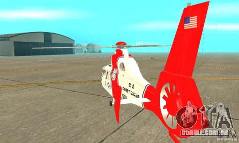 AS-365N da Guarda Costeira dos Estados Unidos para GTA San Andreas vista direita