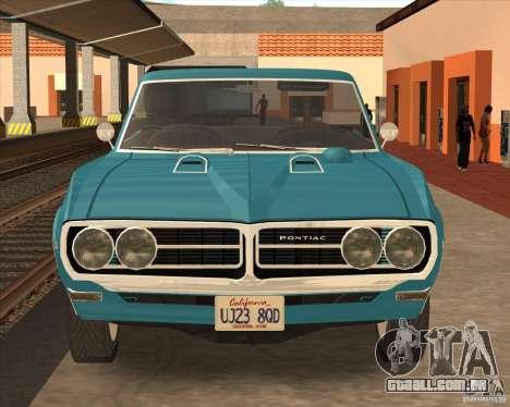 Pontiac Firebird Conversible 1966 para GTA San Andreas esquerda vista