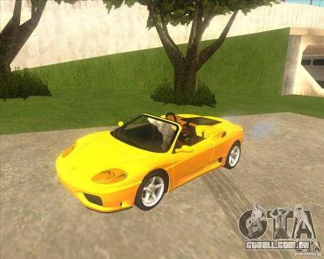 Ferrari 360 Spider para GTA San Andreas