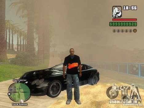 A t-shirt MIZ para GTA San Andreas quinto tela