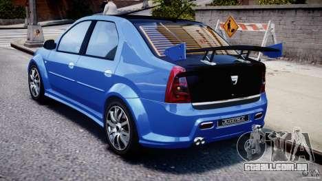 Dacia Logan 2008 [Tuned] para GTA 4 vista direita