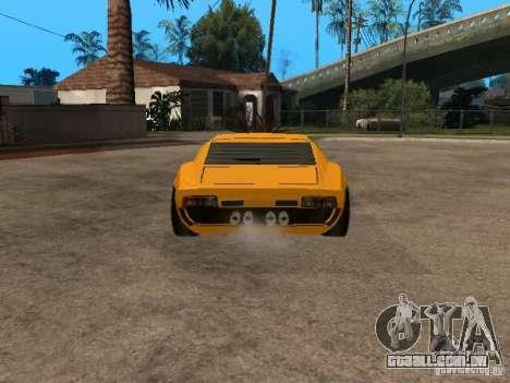 Lamborghini Miura para GTA San Andreas traseira esquerda vista