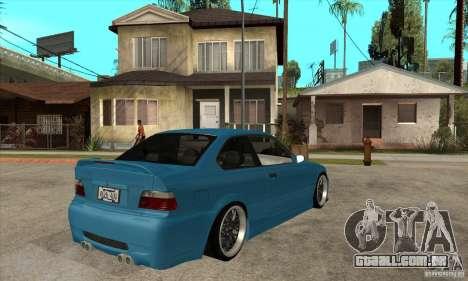 BMW M3 HAMMAN para GTA San Andreas vista direita