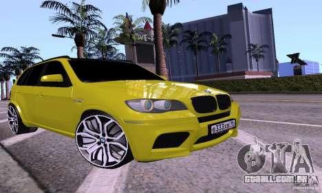 BMW X5M ouro para GTA San Andreas
