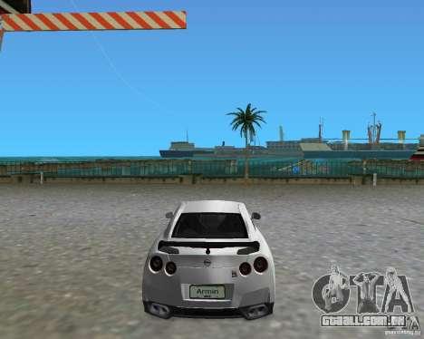 Nissan GT R35 Vspec para GTA Vice City deixou vista