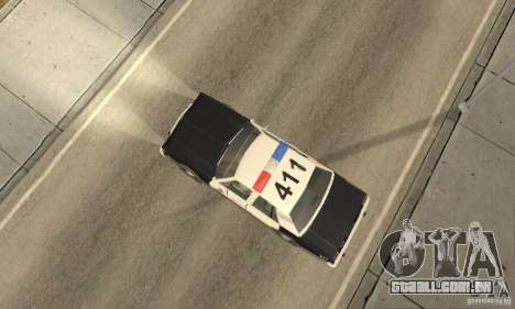 Ford LTD Crown Victoria Interceptor LAPD 1985 para GTA San Andreas traseira esquerda vista