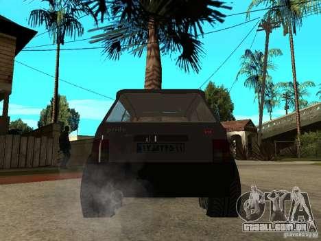 Kia Pride para GTA San Andreas traseira esquerda vista