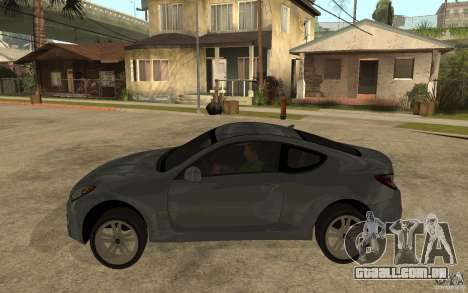 Hyundai Genesis Coupe 2010 para GTA San Andreas esquerda vista