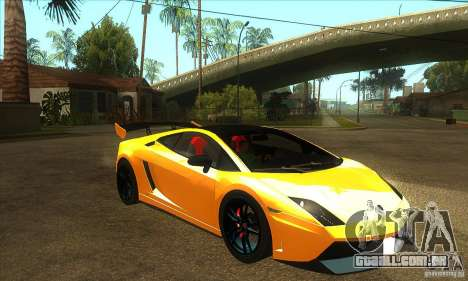 Lamborghini Gallardo LP570 Super Trofeo Stradale para GTA San Andreas vista traseira