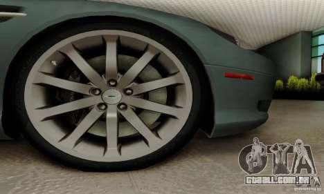 Aston Martin DB9 para GTA San Andreas traseira esquerda vista