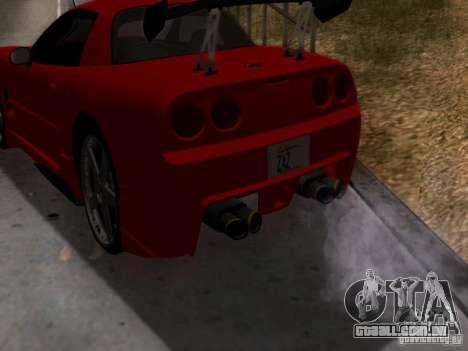 Chevrolet Corvette C5 para GTA San Andreas vista direita