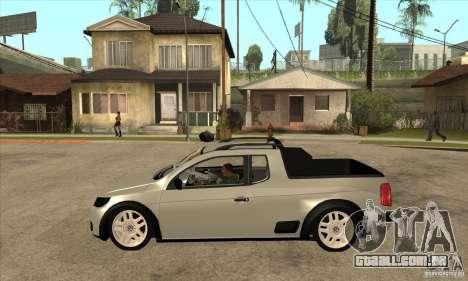 Volkswagen Saveiro G5 para GTA San Andreas esquerda vista