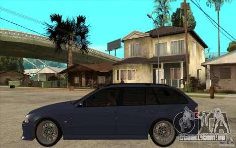 BMW M5 E39 530tdi Touring para GTA San Andreas esquerda vista