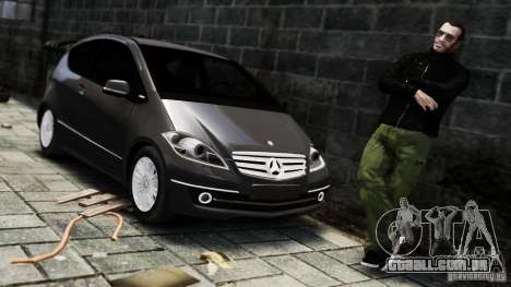 Mercedes Benz A200 Turbo 2009 para GTA 4 vista direita