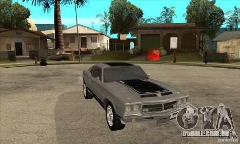 Sabre de GTA 4 para GTA San Andreas vista traseira