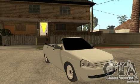 VAZ LADA Priora conversível para GTA San Andreas vista traseira