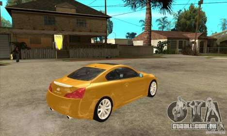 Infiniti G37 Coupe Sport para GTA San Andreas vista interior