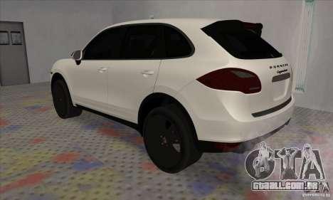 Porsche Cayenne Turbo Black Edition para GTA San Andreas vista direita