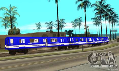 Liberty City Train Sonic para GTA San Andreas esquerda vista