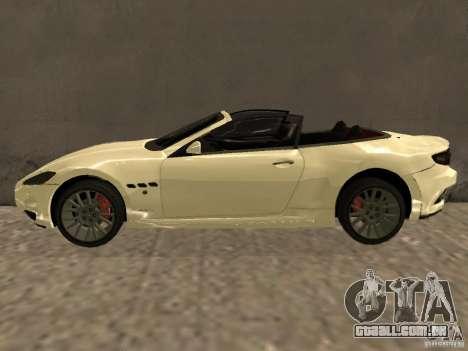 Maserati GranCabrio 2011 para GTA San Andreas esquerda vista