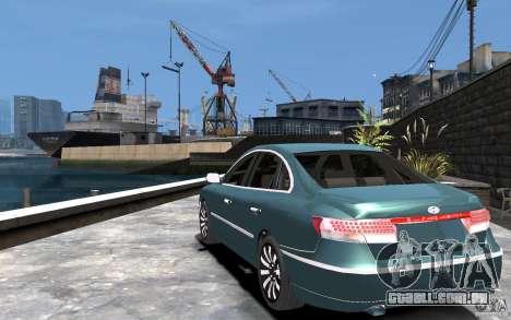 Hyundai Azera 2008 para GTA 4 traseira esquerda vista