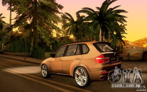 BMW X5M  2011 para GTA San Andreas vista interior