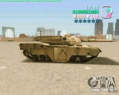M 1 A2 Abrams para GTA San Andreas vista interior