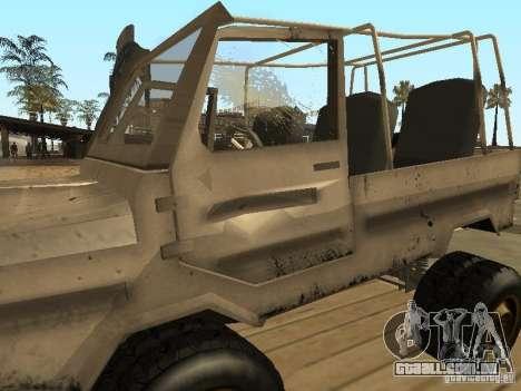 LuAZ 969 Offroad para GTA San Andreas vista superior