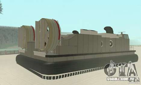 Landing Craft Air Cushion para GTA San Andreas esquerda vista