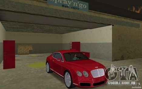 Bentley Continental GT (Final) para GTA Vice City vista traseira