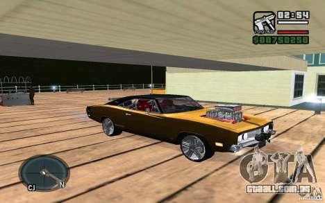 Dodge Charger R/T 1969 para GTA San Andreas vista traseira