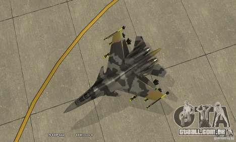 Su-37 Terminator para GTA San Andreas vista direita
