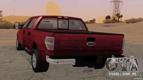 Ford F-150 Platinum Final 2013 para GTA San Andreas esquerda vista