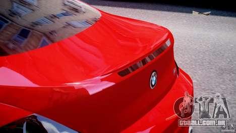 BMW M6 Orange-Black Bullet para GTA 4 vista inferior