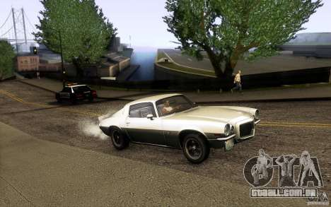 Chevrolet Camaro Z28 para GTA San Andreas vista interior