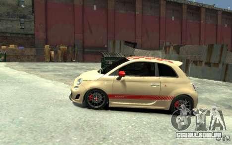 Fiat 500 Abarth Esseesse V1.0 para GTA 4 esquerda vista