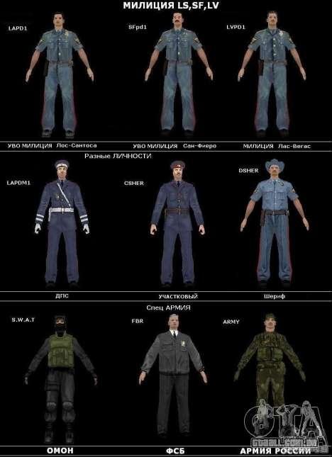 Serviço de segurança russo para GTA San Andreas