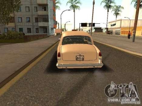 GAZ Volga 21 táxi para GTA San Andreas traseira esquerda vista