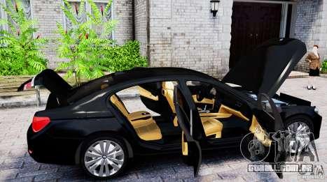 BMW 750Li para GTA 4 traseira esquerda vista