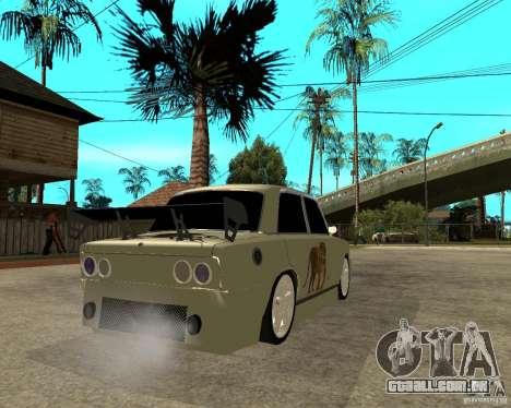 Vaz 2101 D-LUXE para GTA San Andreas traseira esquerda vista