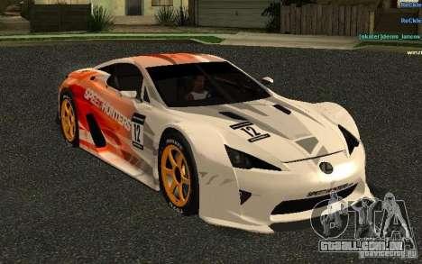 Lexus LFA Speedhunters Edition para GTA San Andreas vista interior