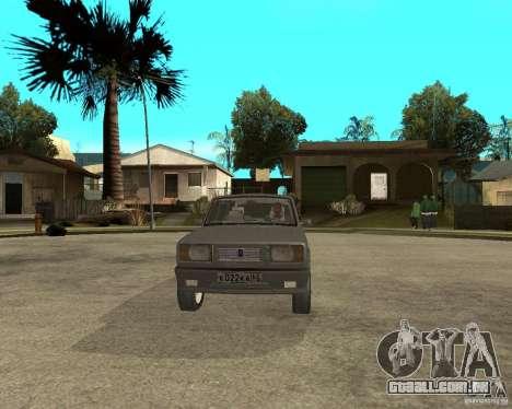 Limousine de 2105 VAZ para GTA San Andreas vista traseira